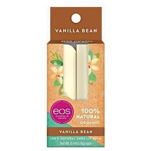 eos Organic Vanilla Bean Lip Balm Stick 2 -Pack